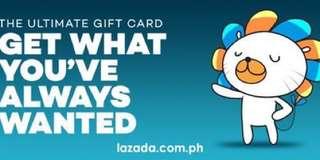 Lazada 2,500 e gift card