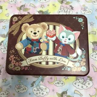 東京迪士尼 disney duffy 杜菲熊 鐵盒 糖果盒 box