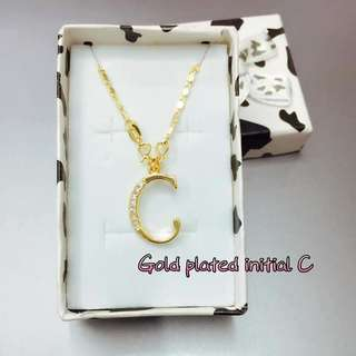 #075 Initial necklace (J & C letters only)