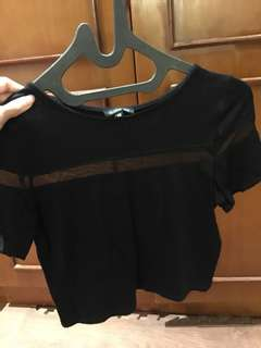 cloth inc crop top black S