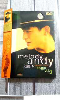 "[SALE] Andy Lau 刘德华 DVD ""Melody Andy Volume 3"""