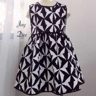 ❤️Cotton Dress (Geometry Blacky White)❤️