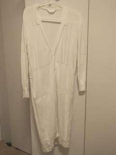 initial white cardigan