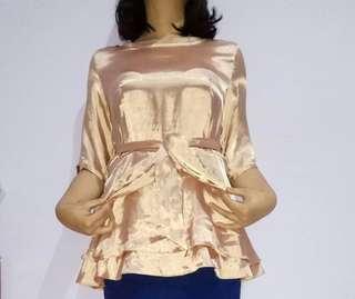Golden Silk Blouse