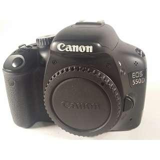 Canon EOS 550D 盒裝 背帶 充電器 光碟 說明書 原電*1  公 (CB057)