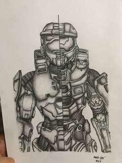 Halo Masterchief Drawing