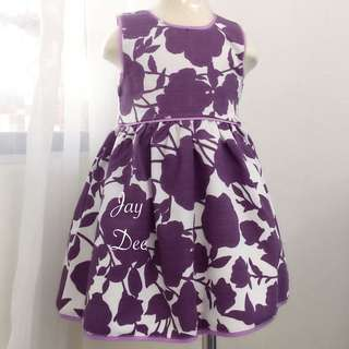 ❤️Cotton Dress (Floral Dusty Purple)❤️