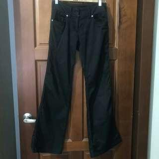 🚚 (二手)Sisley棉質黑色休閒褲
