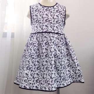 ❤️Cotton Dress (Leafy Blacky White)❤️