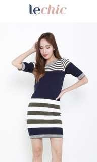 🥑 Stripes Spontaneity Knit Dress
