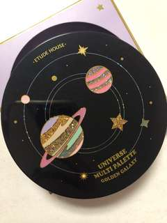 Etude house universe multi palette golden galaxy eyeshadow blush