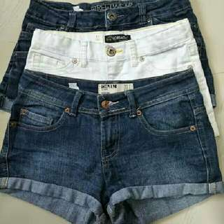 Branded Denim Shorts Size 26-27