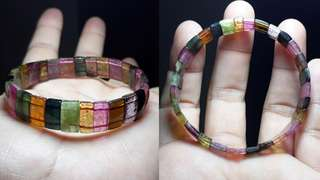Gem Quality Multicolor Tourmaline Bracelet