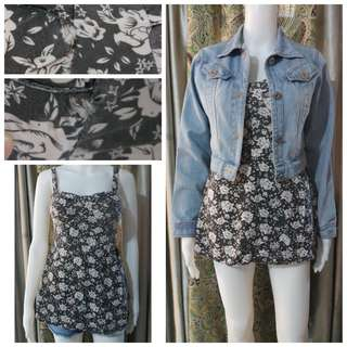 Floral corset type mini dress