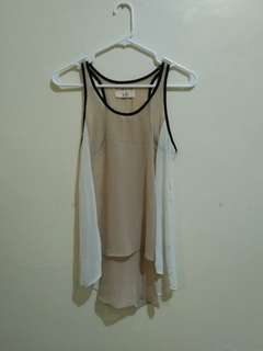 LOLA beige/white top