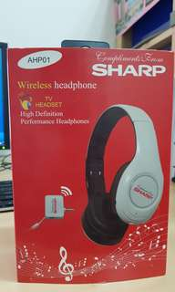Sharp wireless headphones
