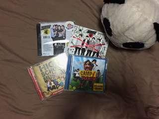 5SOS ALBUMS, CAMPROCK ALBUM, AND HSM 1