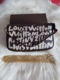 LOUIS VUITTON Limited Edition Stephen's Sprouse Graffiti Pochette