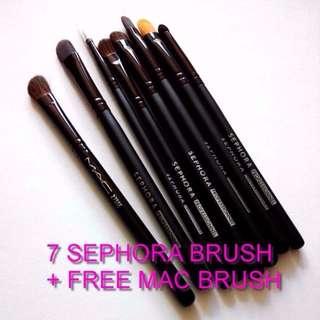 NEW 7pc Sephora + 1 MAC Makeup Blending Professional Brush