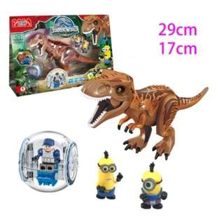 Brand New 1 set only T-rex  Indominus Rex  Dino Dinosaur  Jurassic Park Work compatibe with lego