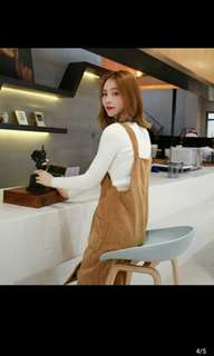 韓版休閒背心洋裝