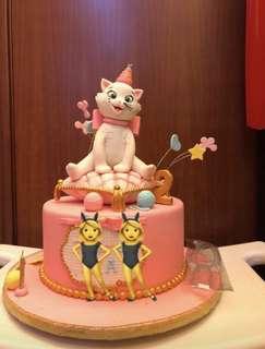 Dummy Birthday Cake / Kue dummy hanya untk tiup lilin