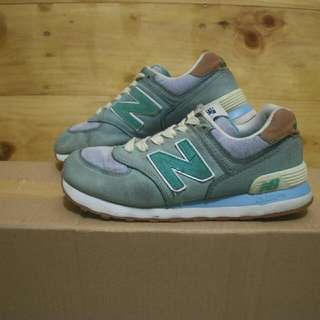 New balance 574 blue olive sneakers shoes original