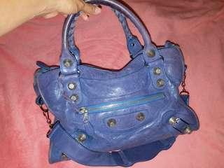 二手 Balenciaga Gaint city 巴黎世家 紫藍色  100%正貨