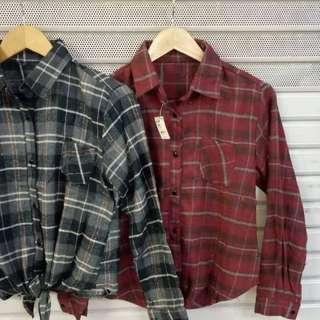 Tied flannel