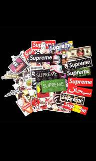 Supreme stickers for Luggage/Laptops