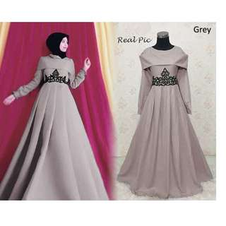Baju Muslim Gamis Pesta Medira Sherly Dusty Pink - Daftar Harga ... bd714ec50e