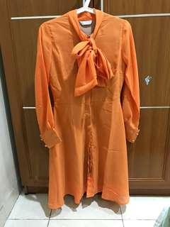 Dress orange - Jolie Clothing