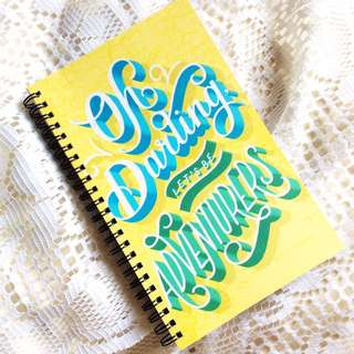 Let's Be Adventurers - Typography Spiral Bound Notebook.