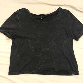 Forever 21 Distressed Crop Top