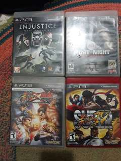 4 Ps3 games. Used but not abused