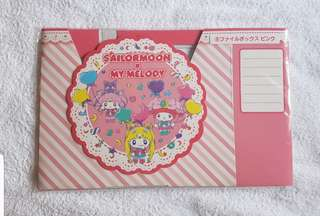Sailor Moon x My Melody Kuji Lottery Prize Sanrio Japan Document File Book Holder Sailormoon