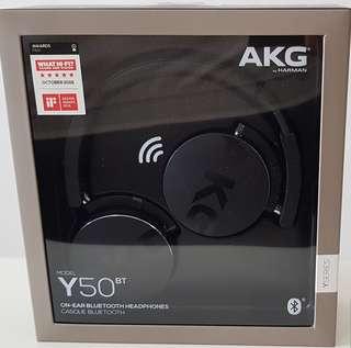 BNIB AKG Y50BT Bluetooth Headphones