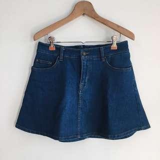 Zara Denim A line skirt