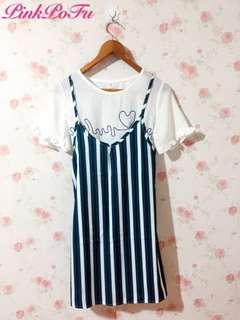 🚚 雪紡紗+細肩背套裙(兩件式)S