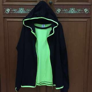Jaket Gym warna Neon + baju