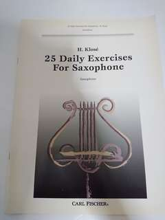 Carl Fischer Saxophone daily exercises