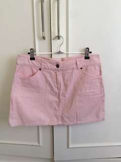 H&m pink denim skirt