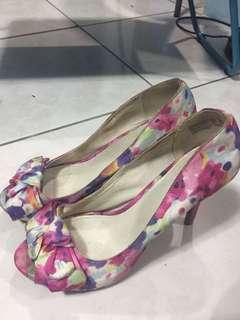 Pink Floral High Heels