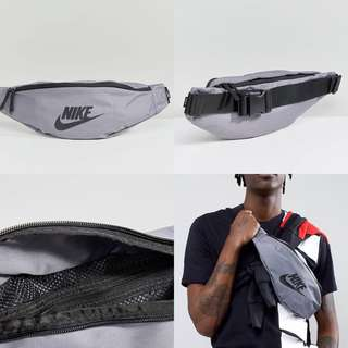 "INSTOCKS Grey Nike ""Swoosh"" Heritage Waist Bag"