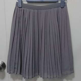 Uniqlo 灰色百摺裙 Grey Pleated Skirt