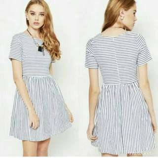 Love and bravery striped baby doll dress
