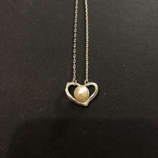 心形鋯石頸鏈