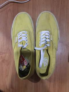 Authentic vans (yellow)