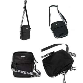 SUPREME Shoulder Bag SS18 Black Tas Crossbody Selempang OFF White bape