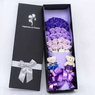 Soap Flower Hand Bouquet-Birthday Gift